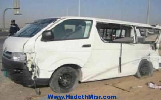 مصرع عامل وإصابة 4 أخرين في إنقلاب سيارة أجرة بسوهاج
