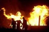 مجهولون يحرقون سيارة شرطة بمركز طما بـمحافظة سوهاج