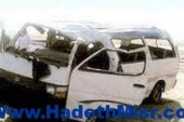 انقلاب حافلة على طريق بور سعيد وإصابة 8 عمال