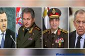 وزيرا الدفاع والخارجية يغادران إلى العاصمة الروسية موسكو .