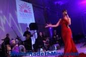 """بالصور..ميريام فارس تتألق بفستان أحمر فى حفل""""شمس"""" بحضور نجوم المجتمع"""