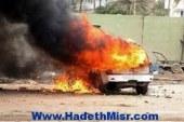 """ما بنهزرش"""" تتبنى إشعال النيران في سيارة قيادي سابق بالحزب الوطني في قطور"""""""