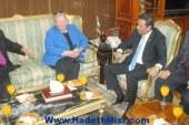محافظ المنوفية لسفيرة أيرلندا: المحافظة بلد الرواد والرؤساء