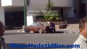 سيارة تسير الرعب بديوان عام محافظة أسيوط