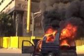 (((((( عاجـــــــــــــــــــــــــــــــل ))))حريق 3 سيارات شرطة بالمحلة