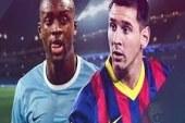 تشكيل دفاعى لمانشستر سيتى أمام برشلونة.. ونيمار على الدكة