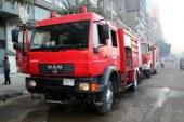 4 سيارات إطفاء تحاول السيطرة على حريق بمخزن قش الأرز بالشرقية
