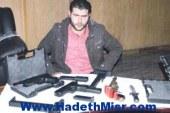سقوط جزار يتاجر فى الأسلحة النارية المهربة من ليبيا بعابدين