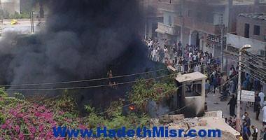 نشوب حريق بمنزل بابو تيج أسيوط .