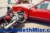 مصرع طالب وإصابة أخر في تصادم سيارة بدراجة بخارية في سوهاج