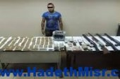 القبض على تاجر مخدرات وبحوزته فرد خرطوش وكمية من البانجو بطوخ