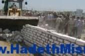 إزالة تعديات بعض أهالي سوهاج على 55 فدان تابعة لشركة المياه