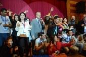 فرقة مسرح العرائس التابعة للسودان تقدم أول العروض خلال فعاليات اليوم الثاني للمهرجان.