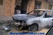 """ملثمون يضرمون النيران بسيارة """"مهندس"""" أمام كنسية العذراء بالفيوم"""