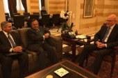 نبيل فهمي يلتقي برئيس الوزراء اللبناني ورئيس الحزب التقدمي الإشتراكي اللبناني