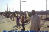 سلسلة بشرية لأنصار الإرهابية على الطريق الدائري ببهتيم