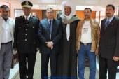 وفد ممثل عن قبائل وأهالي مدينة القصير بزيارة مدير الامن اليوم