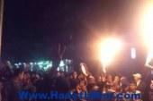 """""""الإخوان"""" يتظاهرون أمام """"رابعة العدوية"""".. ويشعلون الألعاب النارية"""