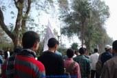 بالصور .. سلاسل بشرية ومسيرات بداية انتفاضة 19 مارس بجامعة المنيا