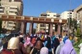 عااااااجل مظاهرات حاشده لطلاب الأخوان خارج سور جامعه المنصورة