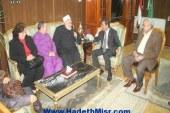 """لمفتى السابق"""" و نيافة الأسقف""""منير حنا"""" يبحثان سبل دعم أواصر الأخوة بين كافة طوائف الشعب"""