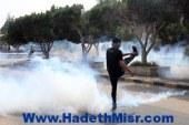 طلاب اﻷزهر يسقطون 3 قطع خرسانية من سور المدينة الجامعية