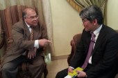 ناوفومي هاشيموتو نائب سفير اليابان في زيارة لرئيس حزب الجيل ناجى الشهابي
