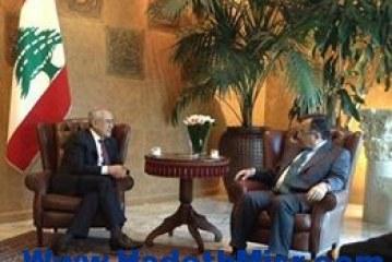 """وزير الخارجيه يلتقي بالرئيس اللبناني """"ميشيل سليمان"""" ووزير خارجيته """"جبران باسيل"""""""