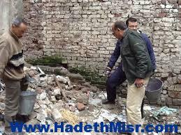 حي العرب يرفع 5 طن مخلفات قمامة