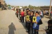 """بالصور -سلاسل بشرية لطلاب """" المحظورة"""" بمدينة وقري الفيوم"""