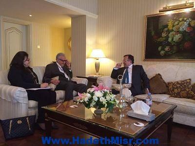 """وزير الخارجيه يلتقي بـ """"الأخضر الإبراهيمي"""" في أعقاب مشاركته في الاجتماع الوزاري التحضيري للقمة العربية بالكويت"""