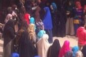 """وقفه لطلاب جامعة بنها ضد الأنقلاب بعنوان """"راجعين والبشوات فاهمين """""""