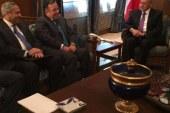 """وزير الخارجيه يلتقي """"نبيه بري"""" رئيس مجلس النواب اللبناني ويشدد علي دعم مصر الكامل لإستقرار الأوضاع في لبنان"""