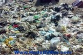 تراكم القمامة على رصيف الممشى السياحي ببورسعيد