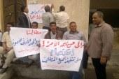 للأسبوع الثانى على التوالى إستمرار إضراب العاملين المؤقتين بسفاجا