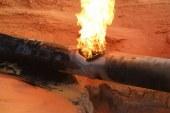 انفجار بخط الغاز الطبيعي بقرية المشايعة بمركز الغنايم بأسيوط