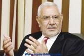 """أبوالفتوح: 30 يونيو """"شرعية الأمر الواقع"""".. وترشح السيسي للرئاسة """"قانوني"""""""