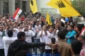 """بالصور- مسيرات طلاب """"المحظورة"""" تخترق كليات ومدارس الفيوم"""