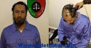 """فى السجن السلطات اللبيبيه  تقص شعر نجل """"القذافى"""