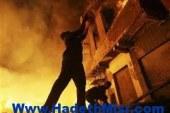 نشوب حريق بمبني الحملة الميكانيكية بمجلس مدينة ساحل سليم