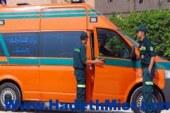 جماعة الإخوان الإرهابية ترشق سيارة إسعاف بالحجارة أثناء نقل مريض .