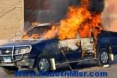القبض على إخوانى متهم بإشعال النار بسيارة أمن بحوزته فرد خرطوش بالطالبية