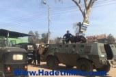اصابه ضابط و3مجندين في انقلاب مدرعه بطريق الفيوم