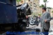 : ضبط المتهمين بحرق سيارة شرطة بأسوان وبحوزتهما 5 زجاجات مولوتوف