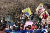 """شلل مرورى بالخليفة المامون بعد خروج مسيرة اخوان """"عين شمس"""" من الجامعة"""