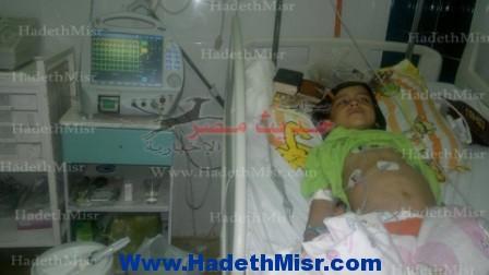 """بمستشفى الغردقة العام …   أطباء مستشفى الغردقة العام يصيبون الطفل """" أندرو """" بالعمى عقب إجراء عملية إزالة اللوزتين"""