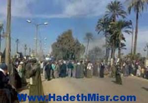 فتح الطريق الصحراوي بعد اغلاقه احتجاجاً على اختطاف شاب بعدوة المنيا