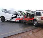 مصرع وإصابة 3 أشخاص في تصادم سيارتين  في سوهاج