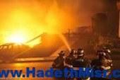 """عاجل ..حريق هائل فى مصنع """"رويال تكس للجينز"""" بالإسماعيلية"""