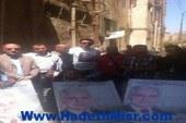 """وقفة لدعم """"صباحي"""" أمام مكتب الشهر العقاري ببنها"""